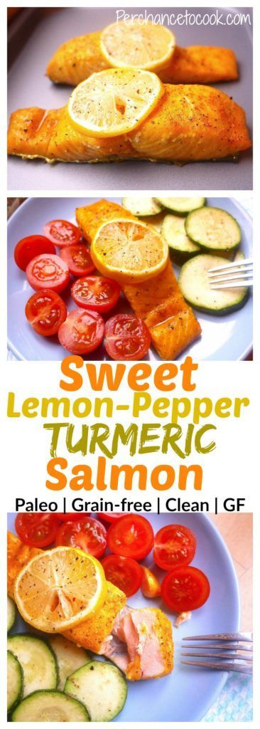 Sweet Lemon-Pepper Turmeric Salmon (paleo, GF) | Perchance to Cook, www.perchancetocook.com