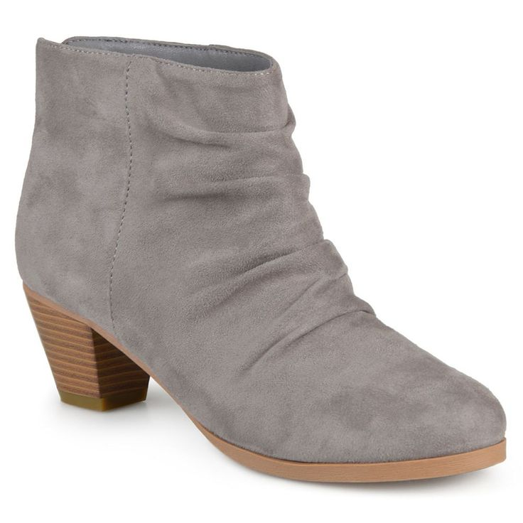 Journee Collection Jemma Women's Slouch Ankle Boots, Size: 6.5, Grey
