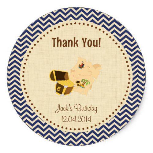 Rustic Treasure Hunt Birthday Thank You Sticker