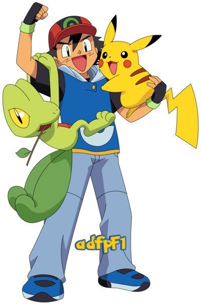 Ash (AG), Pikachu Y Treecko (02) By AdfpF1 On DeviantArt