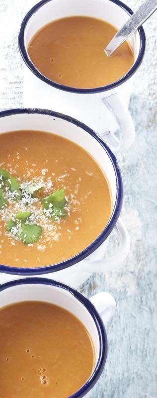 Soupe exotique tomate-carotte
