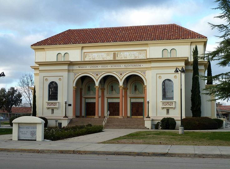 Wasco Union High School Auditorium in Kern County, California