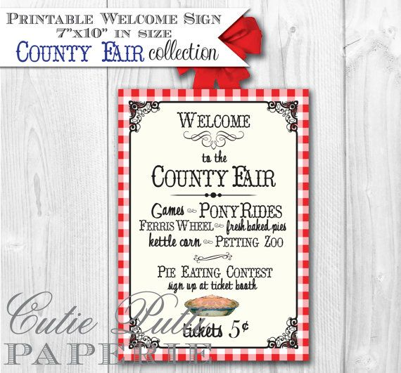 County Fair Party State Fair Party Country by CutiePuttiPaperie, $6.00