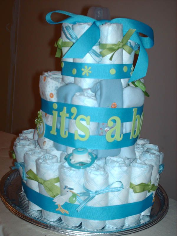 baby shower cakes for a boy | Darling Boy Baby Shower Cake – Lots of Color and L