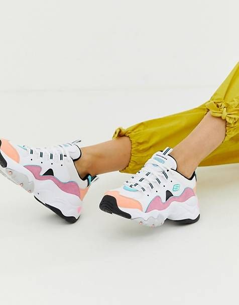 a04b6ce845e Skechers D'Lite chunky trainers 3.0 in pastel | Shoes in 2019 ...
