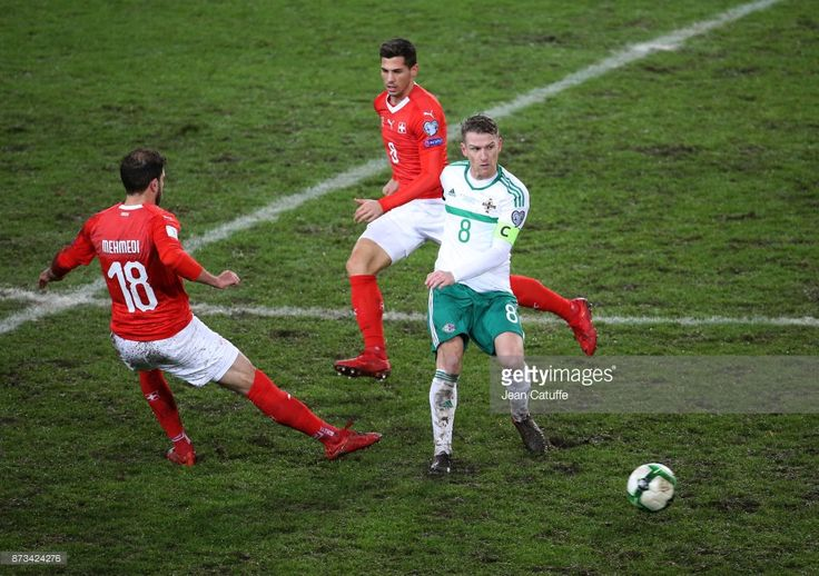 Steven Davis of Northern Ireland, Remo Freuler of Switzerland during the FIFA 2018 World Cup Qualifier Play-Off: Second Leg between Switzerland and Northern Ireland at St. Jakob-Park stadium on November 12, 2017 in Basel, Basel-Stadt, Switzerland. (Photo by Jean Catuffe/Getty Images)