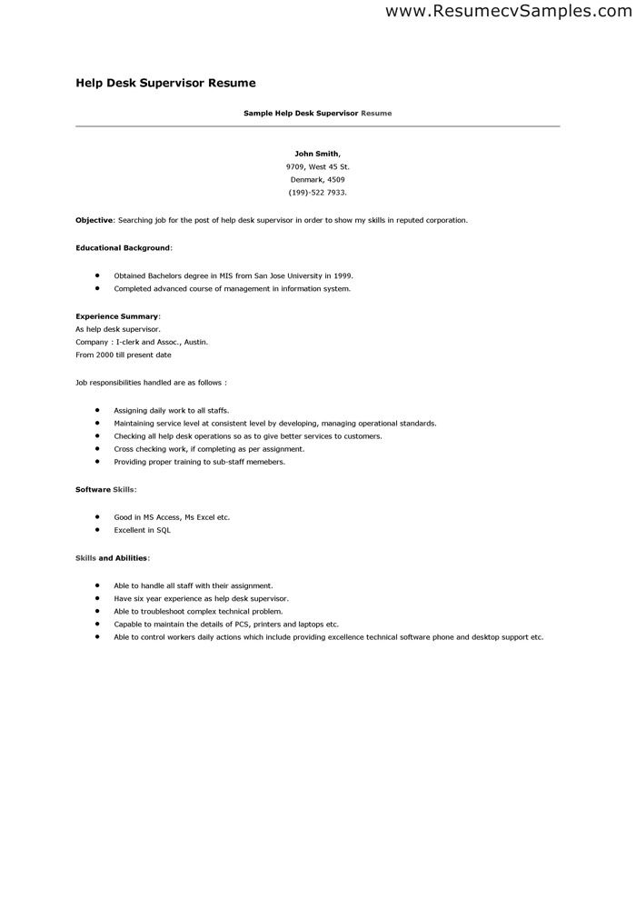 The 25+ best Resume helper ideas on Pinterest Cv format for job - help desk support resume