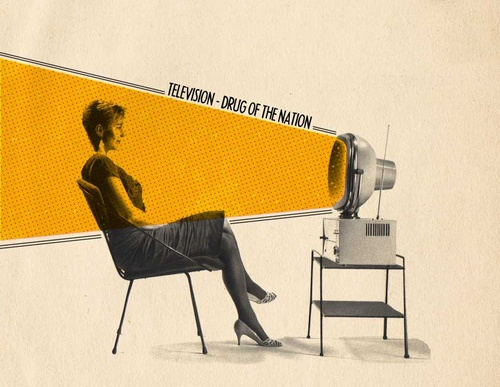 television, drug of the nation (by Sammy Slabbinck): Sammi Slabbinck, Vintage Photographers, Drugs, Collage Art, Typography Quotes, Art Prints, Graphics Design, Poster, Visual Art