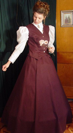Recollections: Twill Vest and Skirt