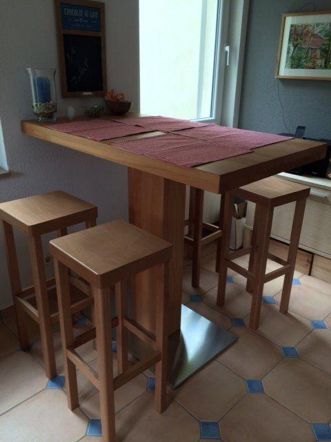Hochtisch für die Küche, Massivholz Buche