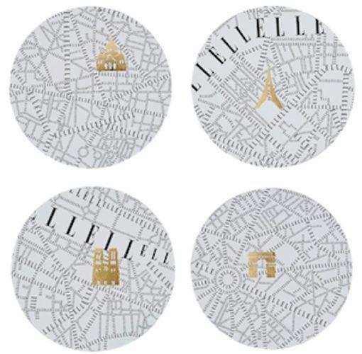 ELLE – Plan de Paris Placemats set of 4