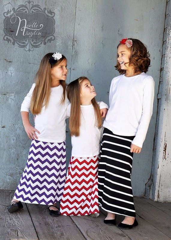Maxi Skirt Toddler Little Girl Tween - Pick Your Color. Dress Up Your Darlings with Little Dainty Darlings and Real Moms Real Views