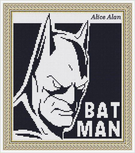 Batman popular superhero comics TV series and films от HallStitch
