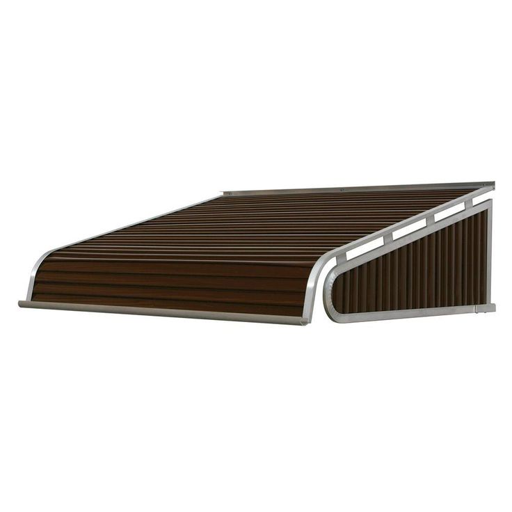NuImage Awnings 3 ft. 1500 Series Door Canopy Aluminum Awning (15 in. H x 36 in. D) in Brown, Brown/Tan