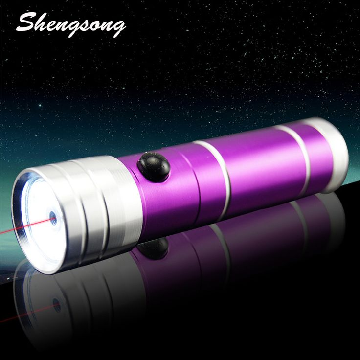 2 in 1 Multi Function Flashlight With Red Laser Pointer Powerful Hunting Lasers Bore Sighter(Not included Battery )