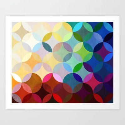 Circular Motion Art Print by Steven Womack - 14.00 dollars