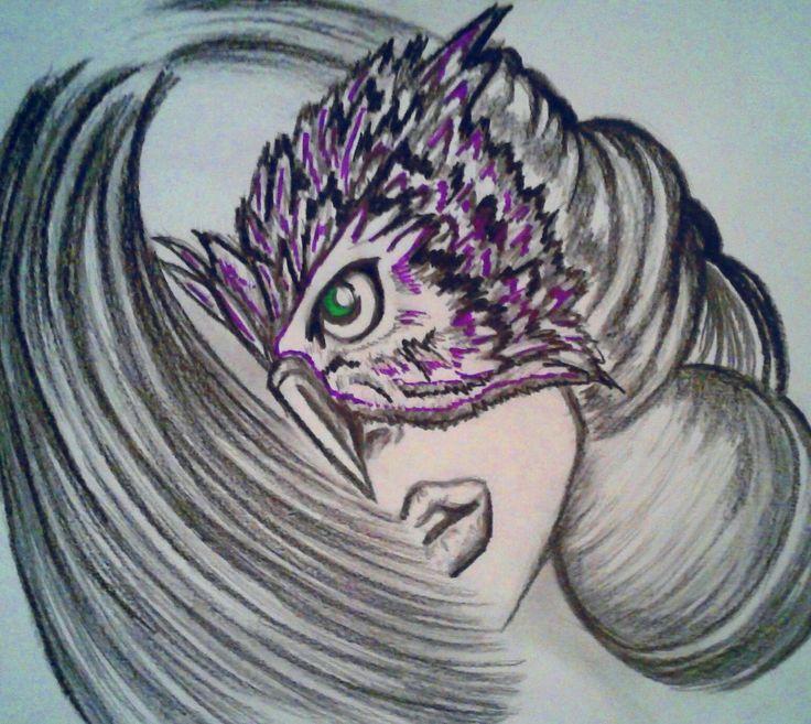 The Owl Lady,  personal drawing, Barbara Scott