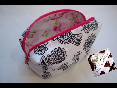 ▶ {Step by Step Sewing} DIY Make Up Bag - YouTube