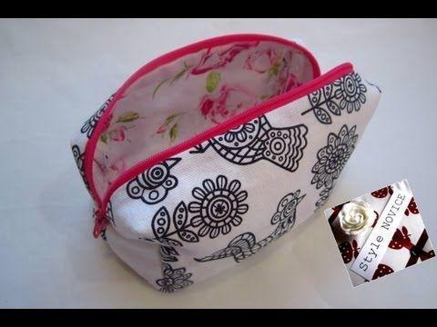 ▶ {Step by Step Sewing} DIY Make Up Bag - YouTube