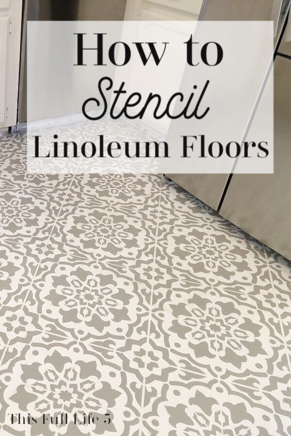 How To Stencil Over Linoleum Floors Youtube Launch In 2020 Linoleum Flooring Linoleum Painting Linoleum Floors