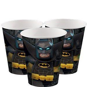 Plates: LEGO Batman 256ml Paper Party Cups x8pk