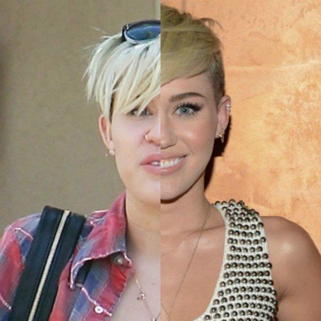 29 Celebrities With and Without Makeup