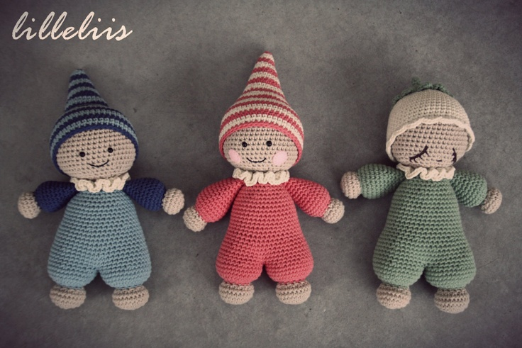 PATTERN Cuddlybaby amigurumi baby doll crochet toy door lilleliis