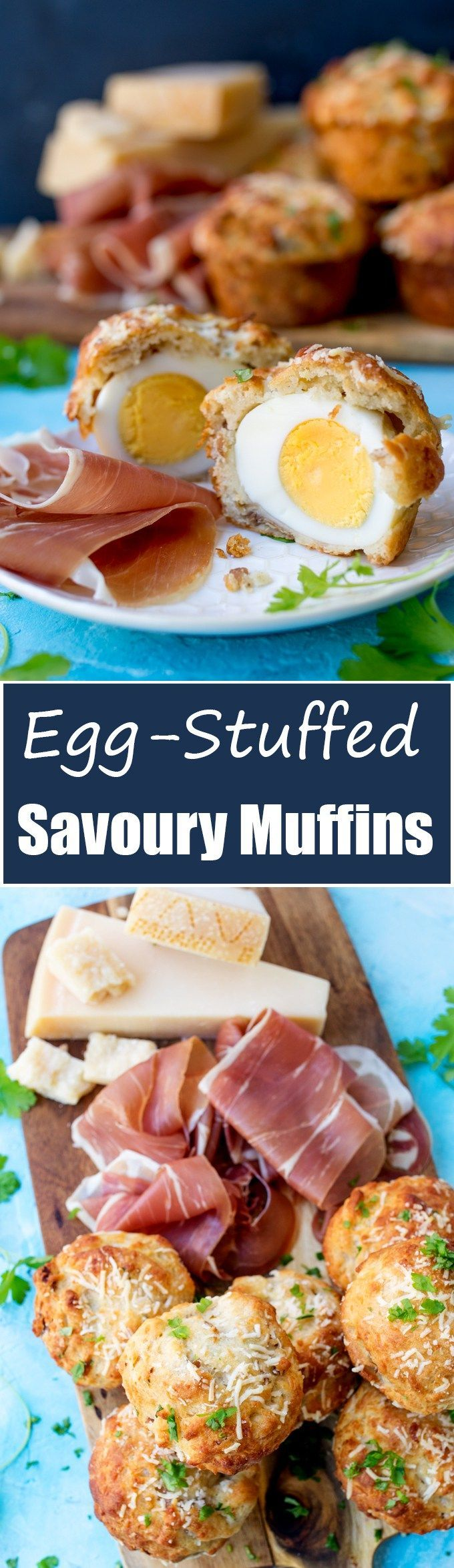 These egg stuffed muffins are cheesy and delicious - perfect for a picnic!