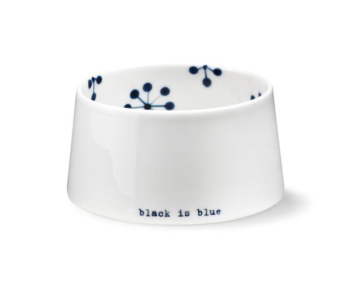 Anne Black sukkerskål Black is Blue - Tinga Tango Designbutik. #designbutik #anneblack #blackisblue #porcelæn #tingatango