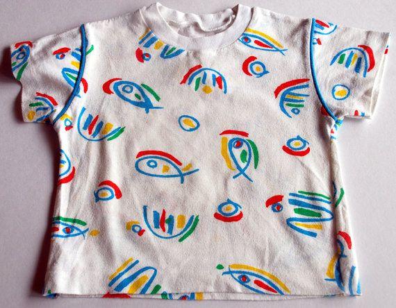Vintage Eighties Ken Done Koala Blue style Kids Tshirt