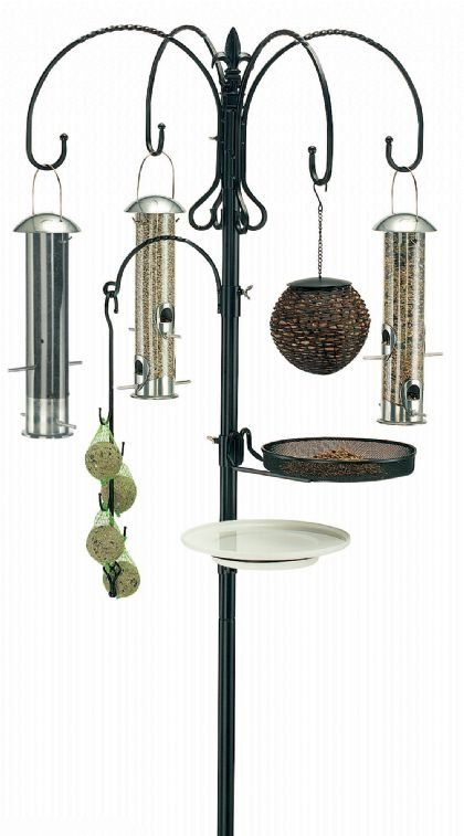 bird feeder pole   Deluxe Wild Bird Feeding Station Kit