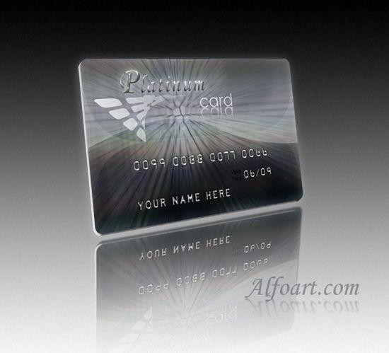 """""""Platinum Credit Card design"""""""