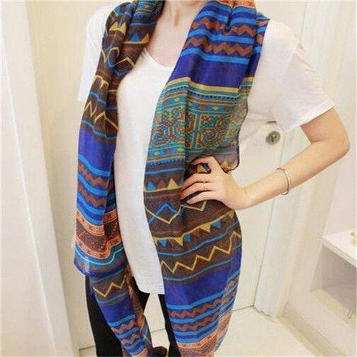 New Fashion Trendy Women's Long Print Scarf Wrap Ladies Shawl Girl Large Pretty Scarf Tole Beach Beauty TC0624