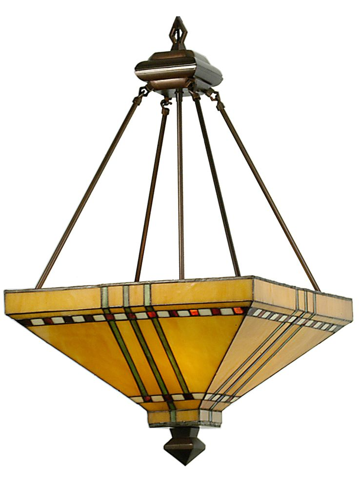 Mission Stickley Southwest 17 Inch Square Prairie Corn Inverted Pendant By Meyda Lighting