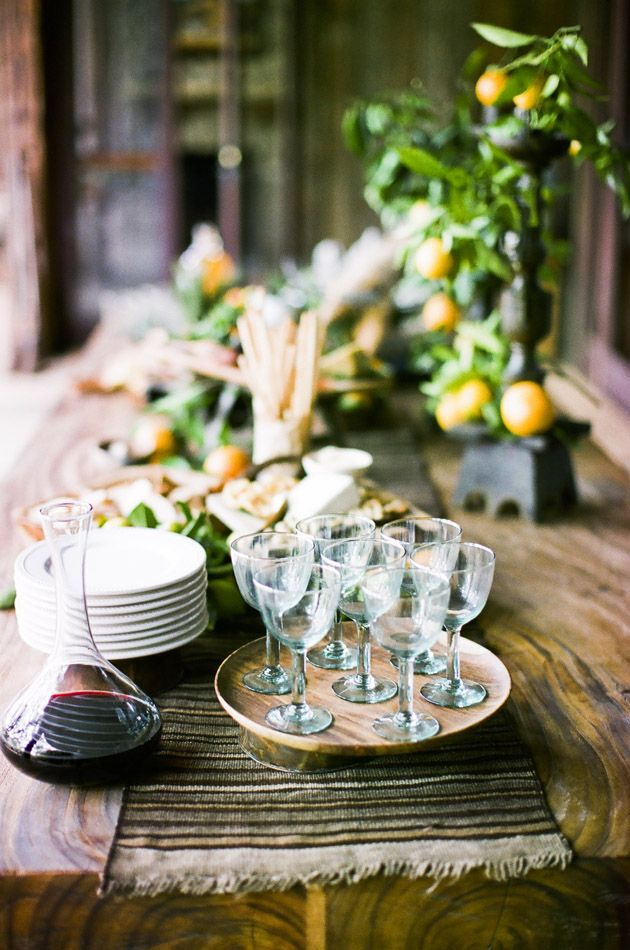 appetizer table ideas photo: nancy neil #sbchic