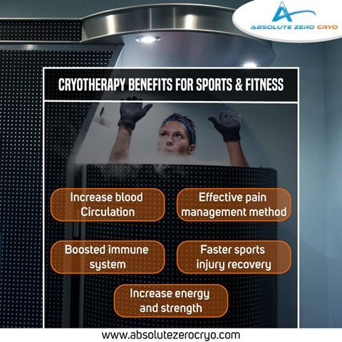 Feel the benefits of Cryotherapy on sports and fitness! Book an Appointment Now…