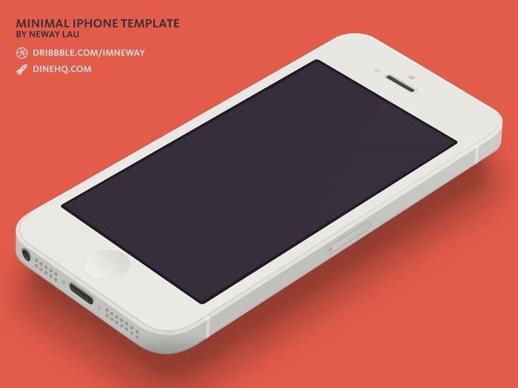 Minimal iPhone 5 Template   Objets   Pinterest