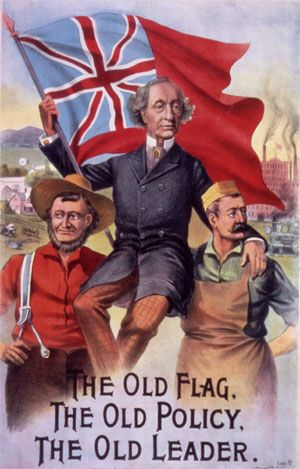 Happy Belated birthday Sir John A.! Sir John A MacDonald campaign poster.