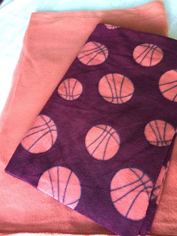 Cozy basketball fleece tie blanket/baby by BriersBlankets on Etsy
