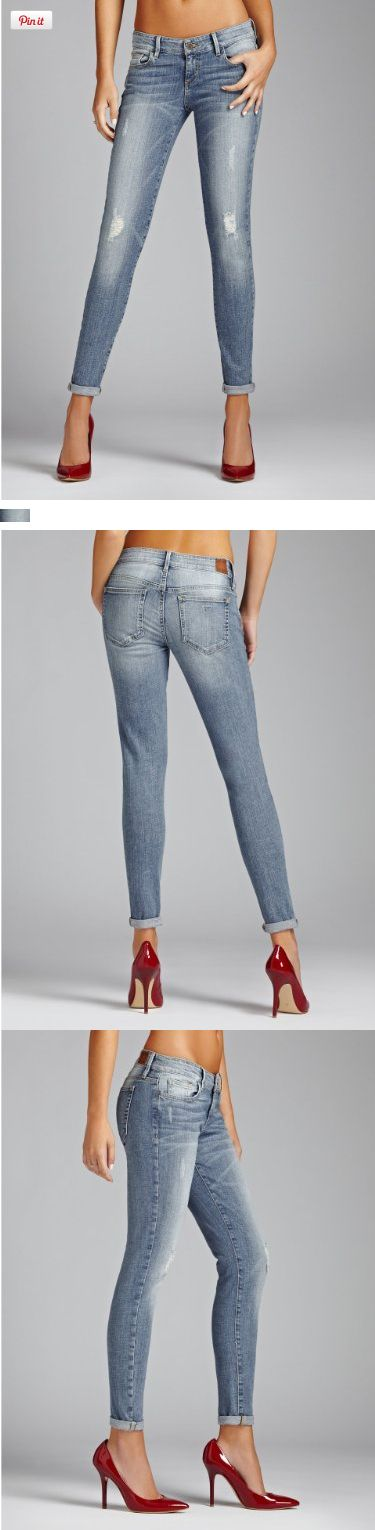 GUESS Women's Kate Low-Rise Skinny Jeans in Juniper Wash, JUNIPER WASH (26), Designed with a low-rise skinny fit, these jeans are ideal for your off-duty days. The medium-weight, super-soft denim has just enough stretch to give you all day comfort, while the medium-light indig..., #Apparel, #Jeans