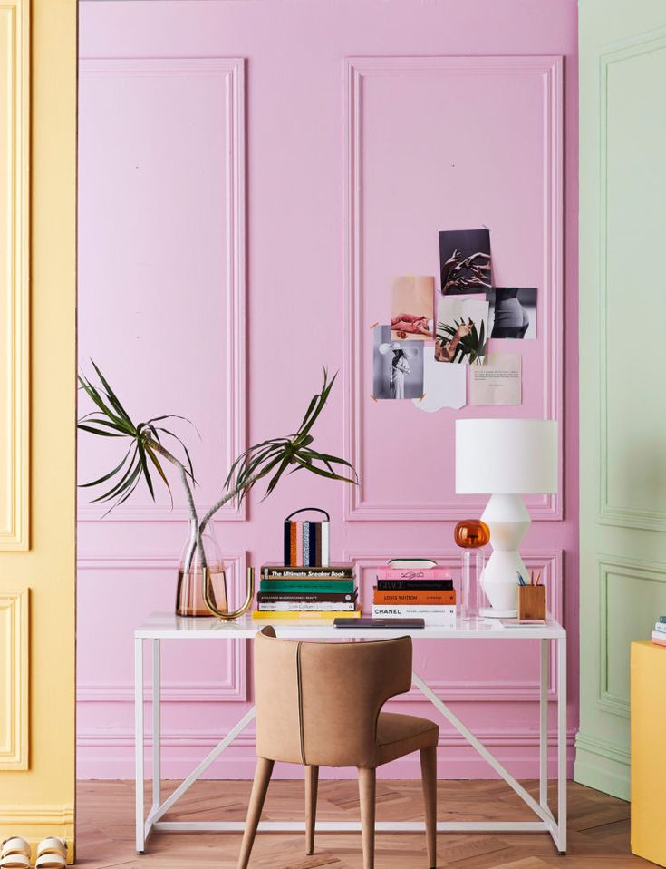 Nz Study Room: 20 Homes With Sumptuous Pink Interiors You'll Instantly