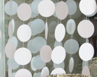 Witboek Garland - cirkel Garland - witte bruiloft Decor - wit feest decoratie
