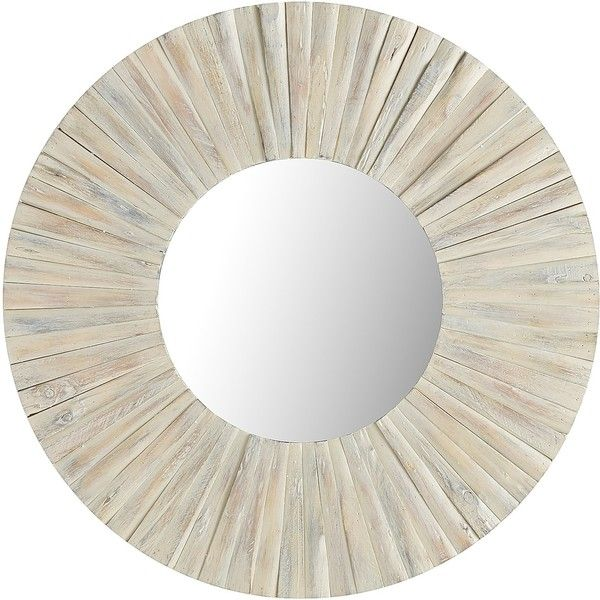 Pier 1 Imports Eternal Mirror ($229) ❤ liked on Polyvore featuring home, home decor, mirrors, white, white wedges, window mirror, handmade home decor, white mirror and white window mirror
