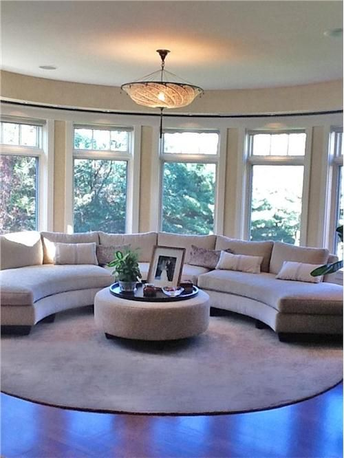 Open Transitional Living & Family Room by Julie Holzman on HomePortfolio