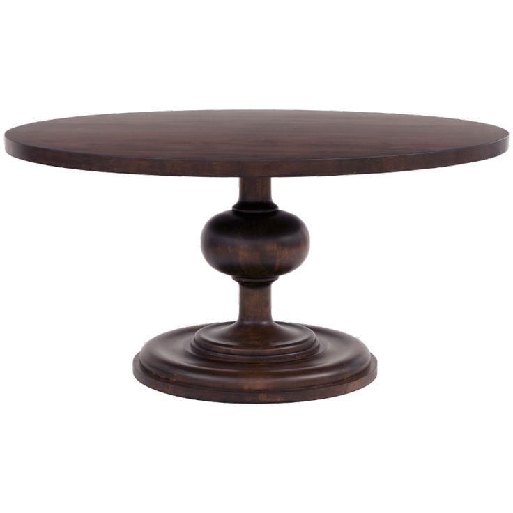 Wallace 54 round dining table in walnut finish round for Table 0 5 ans portneuf