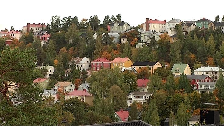 Pispala in Tampere. Finland.