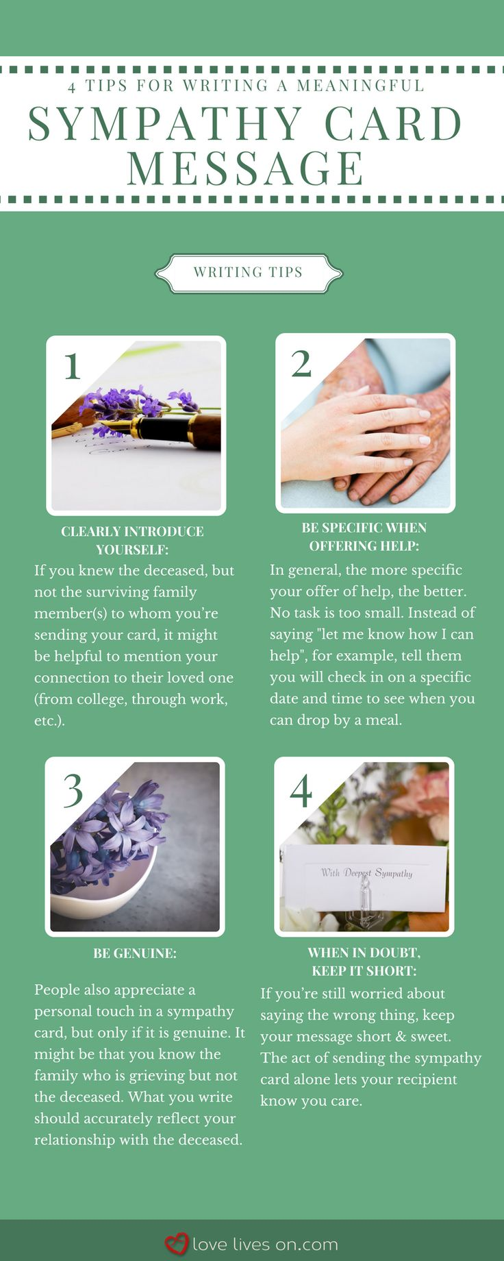 Infographic: 4 Tips for Writing a Meaningful Sympathy Card Message