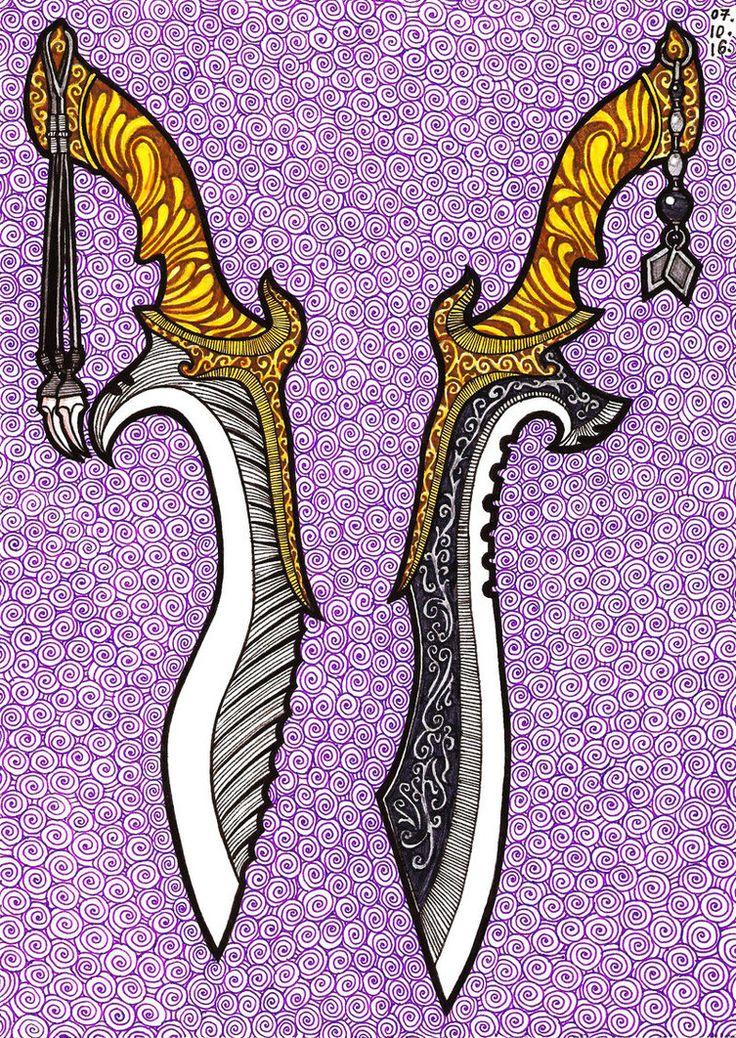 Final Fantasy XV: Kingsglaive - Nyx Ulric's Knives by Masa-Mima.deviantart.com on @DeviantArt
