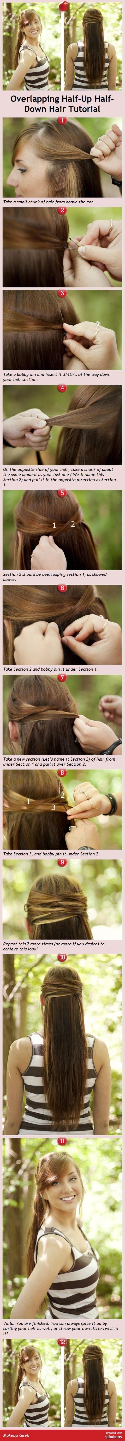 Overlapping Half-Up Half-Down Hair Tutorial -