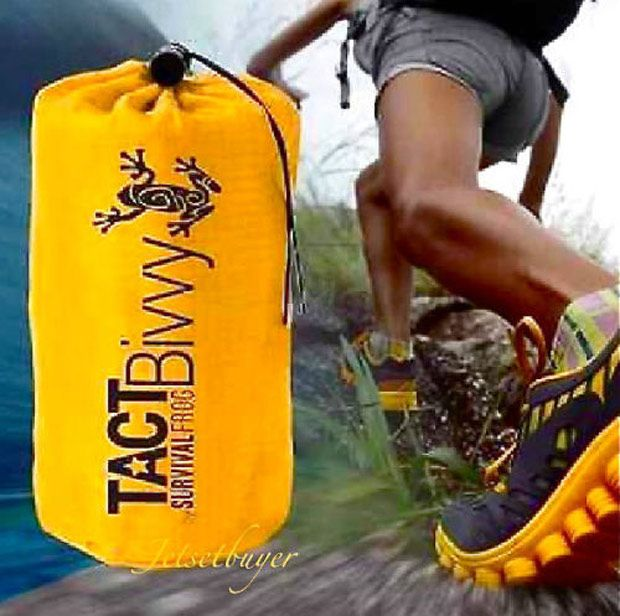 Stay Alive In The TACT Bivvy Emergency Sleeping Bag The TACT Bivvy Emergency Sleeping Bag is an amazing survival tool to add to your survival kit or camping gear. This lightweight sleeping bag can be used by itself, or act as a sleeping bag liner...